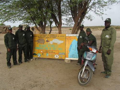 Several of the 20 rangers hired by the African manatee project to monitor and protect Tocc Tocc Community Natural Reserve at Lake Guiers, Senegal. This is the first area in African protected specifically for the African manatee.